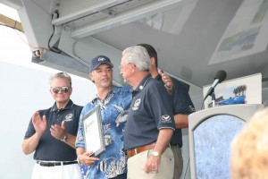 Wyland Receiving Award From Mayor