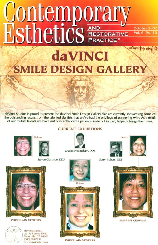 Ft. Lauderdale Cosmetic Dentist is Da Vinci Studios Certified Dentist